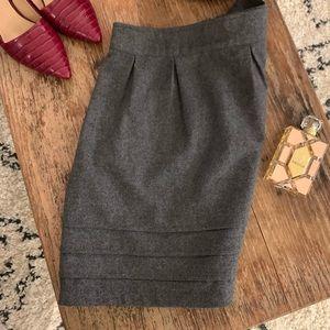 Tulle brand gray wool skirt